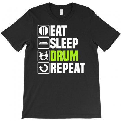 Eat Sleep Drum T-shirt Designed By Enjang