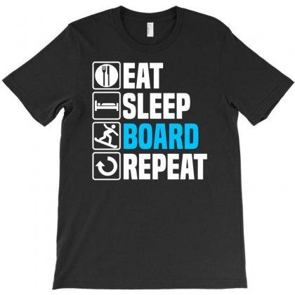 Eat Sleep Snowboard T-shirt Designed By Enjang