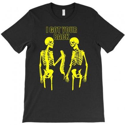 Halloween Skeleton I Got Your Back Funny T-shirt Designed By Enjang