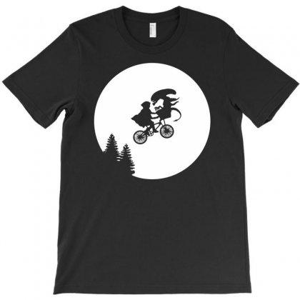 Moon Alien Predator Funny T-shirt Designed By Enjang