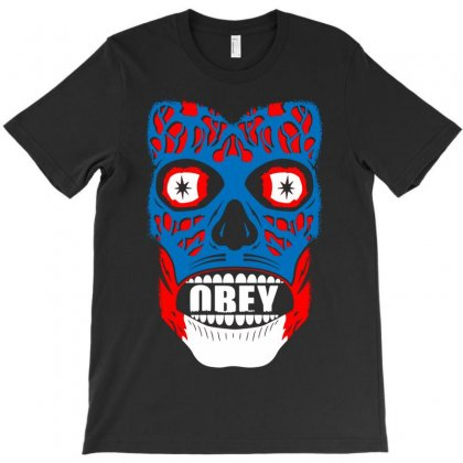 Obey Face Funny T-shirt Designed By Enjang