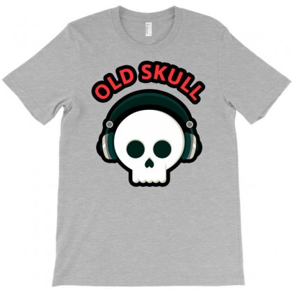 Old Skull Funny T-shirt Designed By Enjang