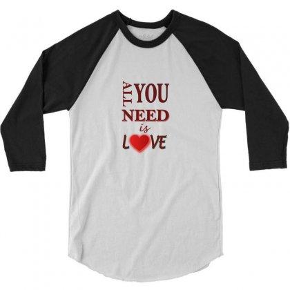 Love 3/4 Sleeve Shirt Designed By Sefaarioglu
