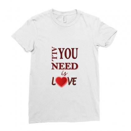 Love Ladies Fitted T-shirt Designed By Sefaarioglu