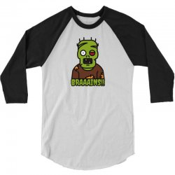 Brains Eater 3/4 Sleeve Shirt | Artistshot