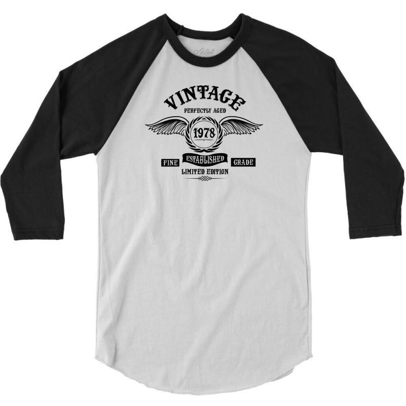 46809c3c03e Custom Vintage Perfectly Aged 1978 3 4 Sleeve Shirt By ...