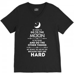We Choose to Go to The Moon V-Neck Tee | Artistshot