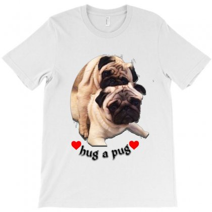 Hug Pug T-shirt Designed By Sefaarioglu