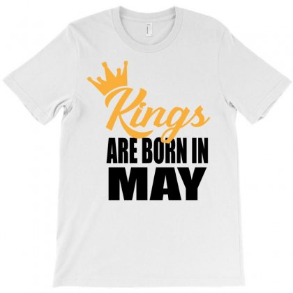 Kings Are Born In May T-shirt Designed By Designbyz | Artistshot