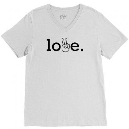 Love V-neck Tee Designed By Designbysebastian