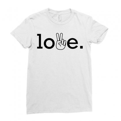 Love Ladies Fitted T-shirt Designed By Designbysebastian