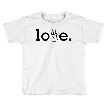 Love Toddler T-shirt Designed By Designbysebastian