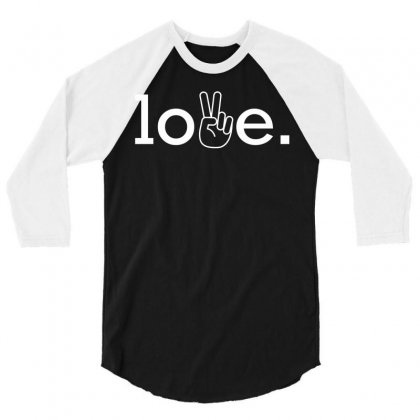 Love 3/4 Sleeve Shirt Designed By Designbysebastian