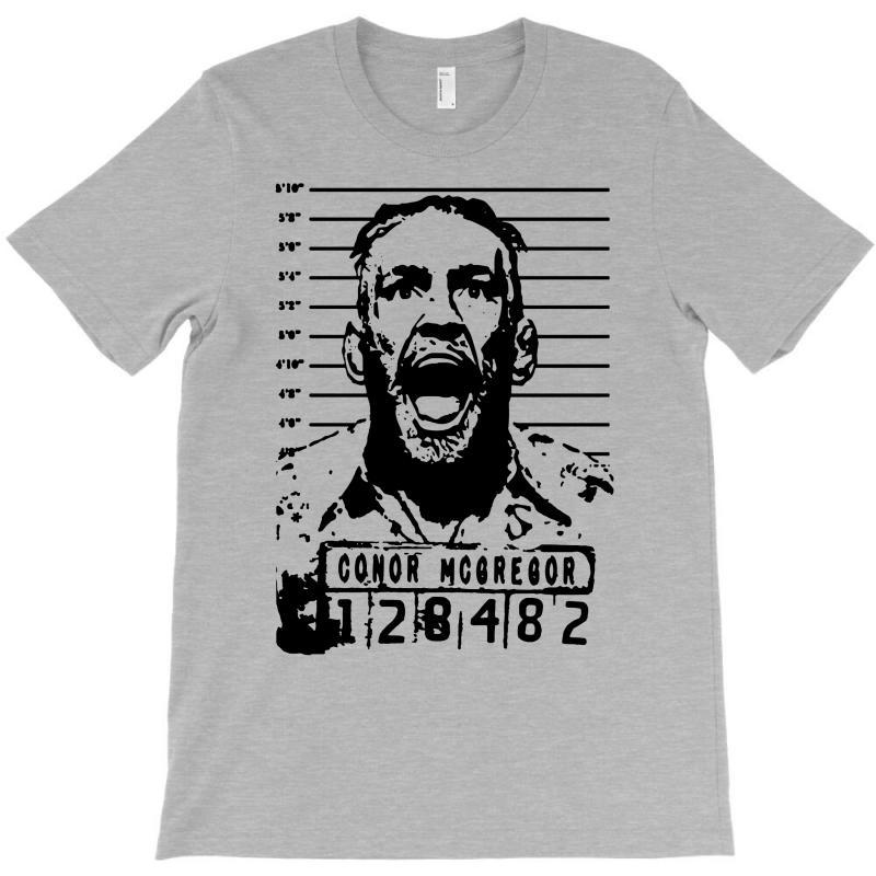 e5b7af78477b Custom Conor Mcgregor, Escobar Mugshot Mashup Funny T-shirt By Mdk Art -  Artistshot