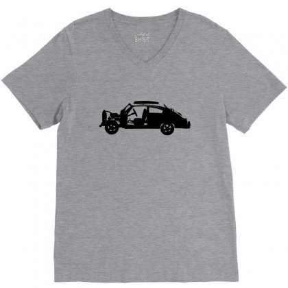 Chevy Fleetline Vehicle V-neck Tee Designed By Purbawa