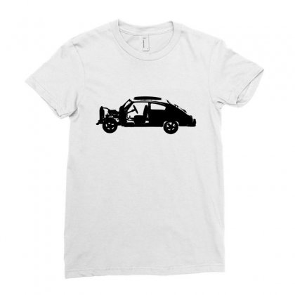 Chevy Fleetline Vehicle Ladies Fitted T-shirt Designed By Purbawa