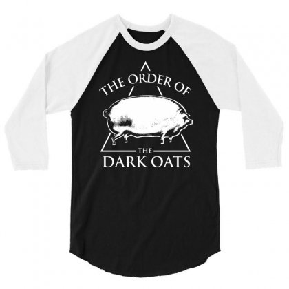 Earlier Version Of The Order Of The Dark Oats Pig Brother 3/4 Sleeve Shirt Designed By Mdk Art