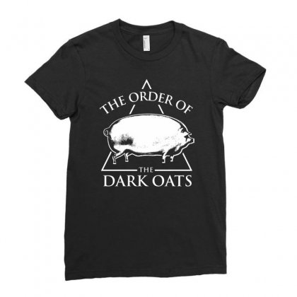 Earlier Version Of The Order Of The Dark Oats Pig Brother Ladies Fitted T-shirt Designed By Mdk Art