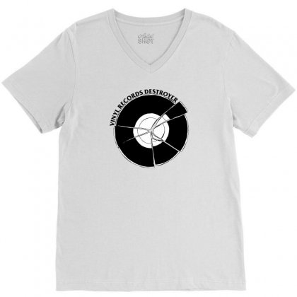 Vinyl Destroyer V-neck Tee Designed By Homienice
