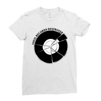 Vinyl Destroyer Ladies Fitted T-shirt Designed By Homienice