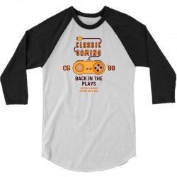 Classic Gaming - Back In The Plays 3/4 Sleeve Shirt | Artistshot