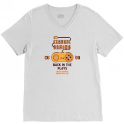 Classic Gaming - Back In The Plays V-Neck Tee | Artistshot