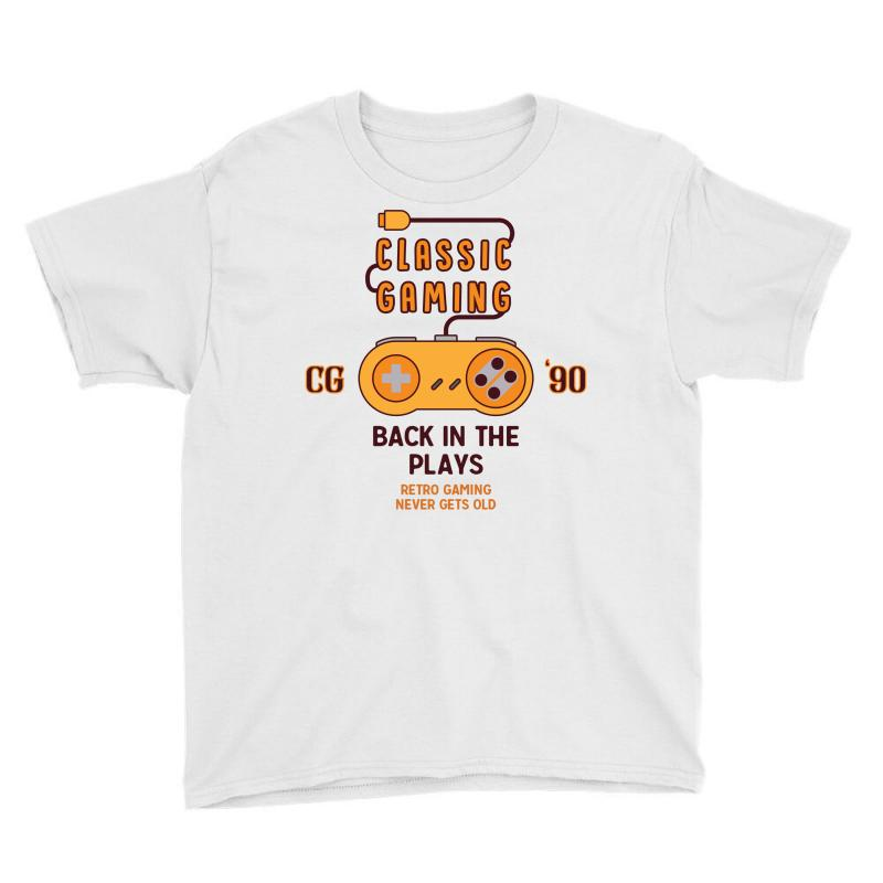 Classic Gaming - Back In The Plays Youth Tee   Artistshot