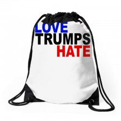 love trumps hate vote for hillary Drawstring Bags | Artistshot