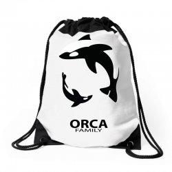 ORCA FAMILY Drawstring Bags | Artistshot