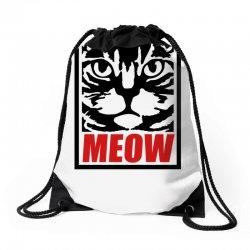 funny cat meow Drawstring Bags | Artistshot