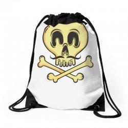 funny skull mustache Drawstring Bags | Artistshot