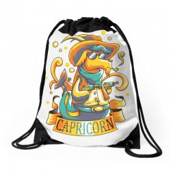 FUNNY ZODIAC SIGNS CAPRICORN Drawstring Bags | Artistshot