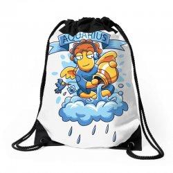 FUNNY ZODIAC SIGNS AQUARIUS Drawstring Bags | Artistshot