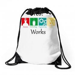yes work science Drawstring Bags   Artistshot