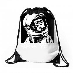 funny monkey astronomy Drawstring Bags | Artistshot