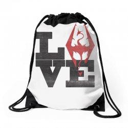 Love Skyrim Drawstring Bags | Artistshot