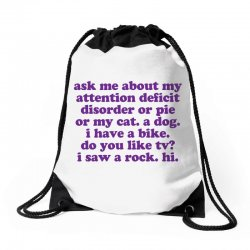 Funny ADHD quote Drawstring Bags | Artistshot
