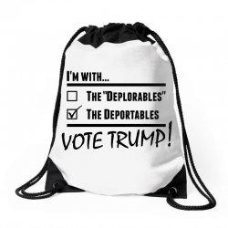 Donald Trump Deportables Drawstring Bags | Artistshot