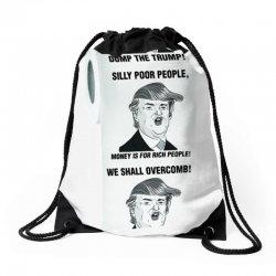 funny donald trump toilet paper Drawstring Bags   Artistshot