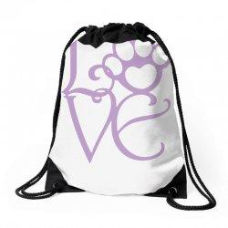 love paw Drawstring Bags | Artistshot