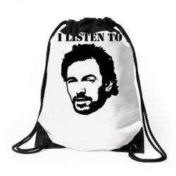 only boss i listen to Drawstring Bags | Artistshot