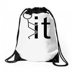 funny sweat Drawstring Bags | Artistshot