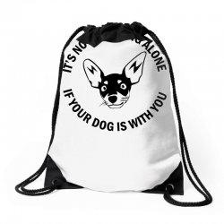 funny drinking dog Drawstring Bags | Artistshot