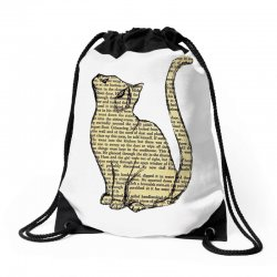 cats text Drawstring Bags | Artistshot