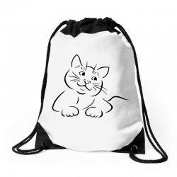 the cat simple Drawstring Bags | Artistshot