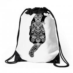 cats black Drawstring Bags   Artistshot
