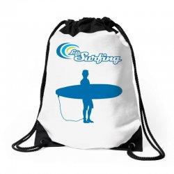 the surfing Drawstring Bags | Artistshot
