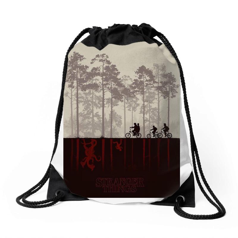 Custom Stranger Things Drawstring Bags By Manisah - Artistshot 3f0cda2f64d2f