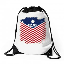 USA Flag Vector Drawstring Bags | Artistshot