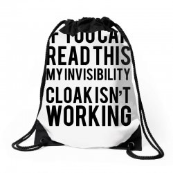 the magic t shirt invisible cloak humor top dope hipster geek indie funny gift Drawstring Bags | Artistshot